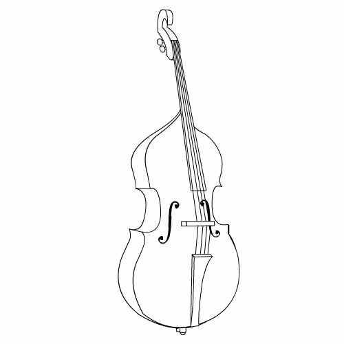 free cello coloring pages - photo#29