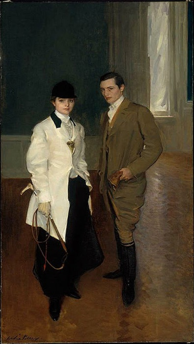 Beaux, Charles Sumner Bird & sister Edith Bird Bass 1907.j