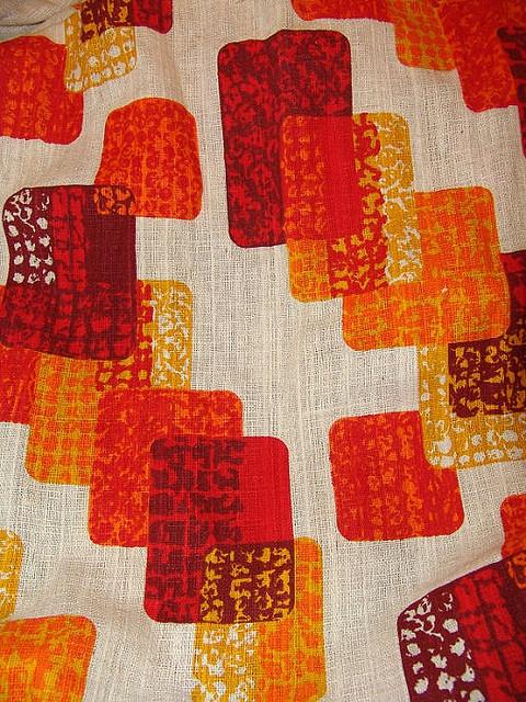 Mid Century Modern Orange Drapes By Monkeysox Flickr