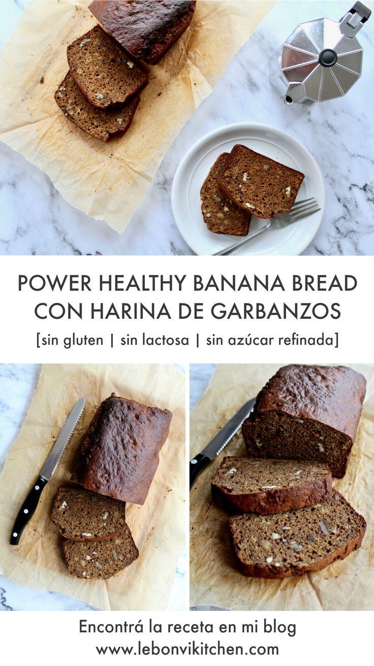 POWER HEALTHY BANANA BREAD DE HARINA DE GARBANZOS (Budin de Banana saludable)  [SIN GLUTEN   SIN LACTOSA   SIN GRANOS - CEREALES   SIN AZUCAR REFINADA   ALTO EN PROTEINA] by www.lebonvikitchen.com ---- POWER HEALTHY CHICKPEA FLOUR BANANA BREAD  [GLUTEN FREE   LACTOSE FREE   GRAIN FREE   REFINED SUGAR FREE   HIGH PROTEIN   LOW CARB] by www.lebonvikitchen.com