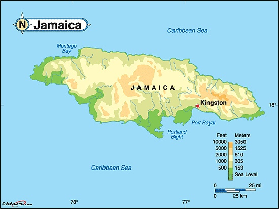 Best Maps Of The Caribbean Images On Pinterest Island Life - Jamaica map caribbean sea
