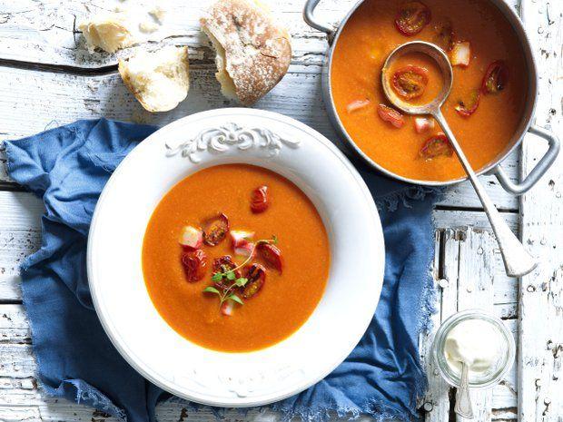 Rajčatová polévka s krabími tyčinkami , Foto: Rychlovky s Kajdou