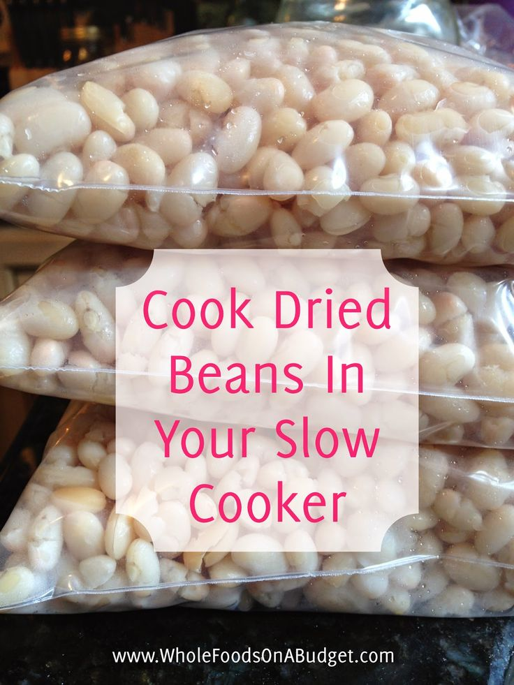 How to cook beans in your slow cooker - it makes the best beans!! | Whole Foods On A Budget