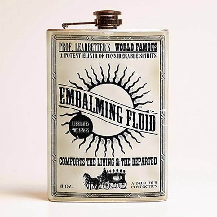 Embalming Fluid Stainless Steel Flask