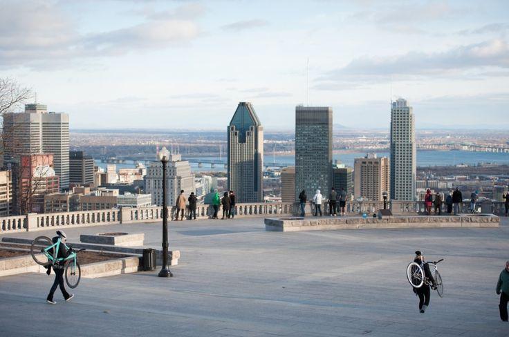 Que faire à Montréal: week-end découverte (Detour Local) -> Le plateau Mont-Royal offre une vue splendide de la métropole du Québec www.detourlocal.com/montreal-week-end-quoi-faire/