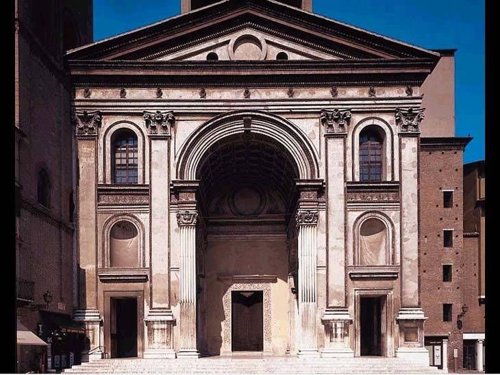 Leon Battista Alberti, Church of Sant'Andrea (Exterior), 1470