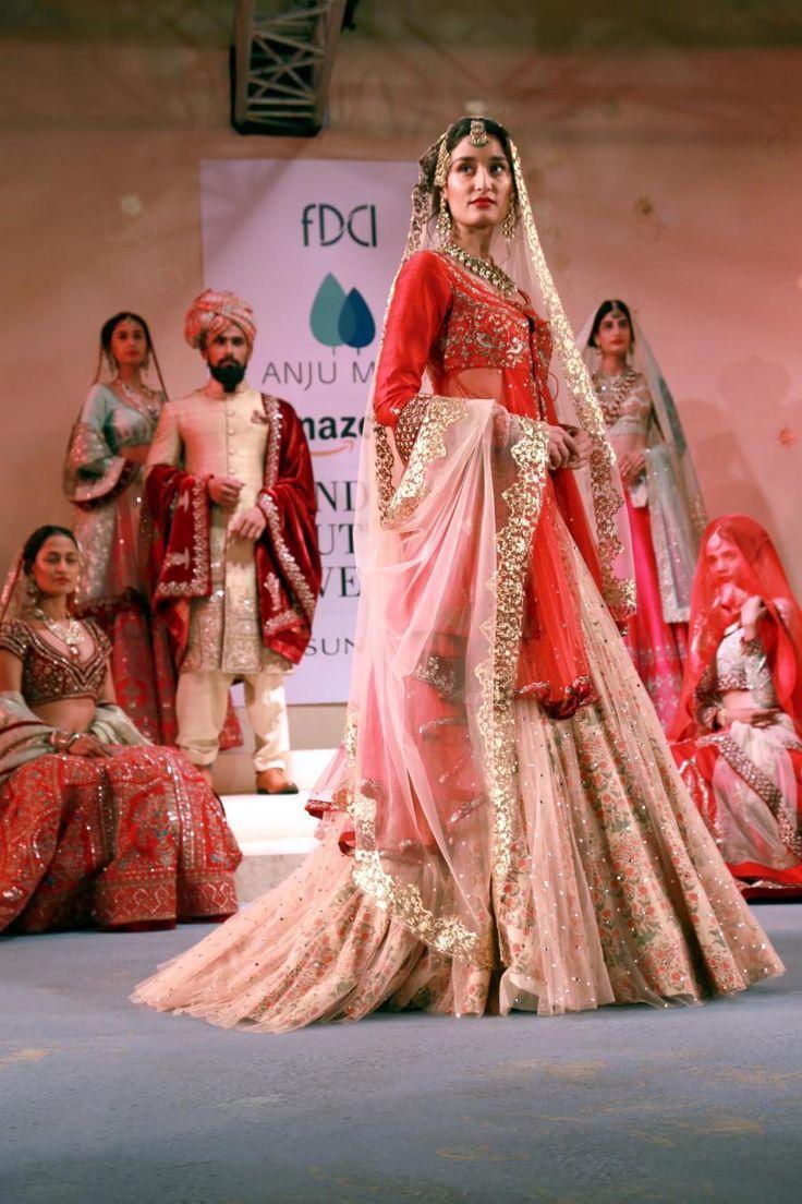 (010815) New Delhi: Amazon India Couture Week 2015 - Anju Modi