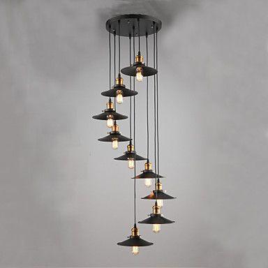 60+Plafond+Lichten+&+hangers+,++Landelijk+Schilderen+Kenmerk+for+Ministijl+MetaalWoonkamer+Slaapkamer+Eetkamer+Studeerkamer/Kantoor+–+EUR+€+203.60