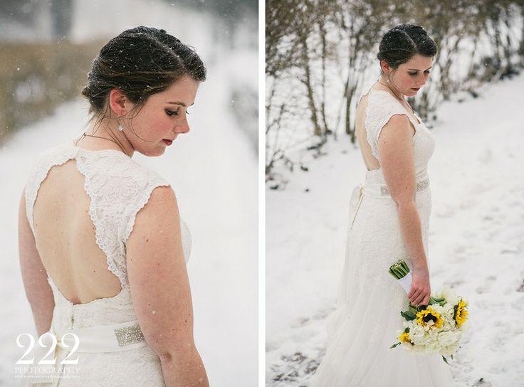 bridal portrait of a winter wedding wedding photography with 222 photography columbus ohio