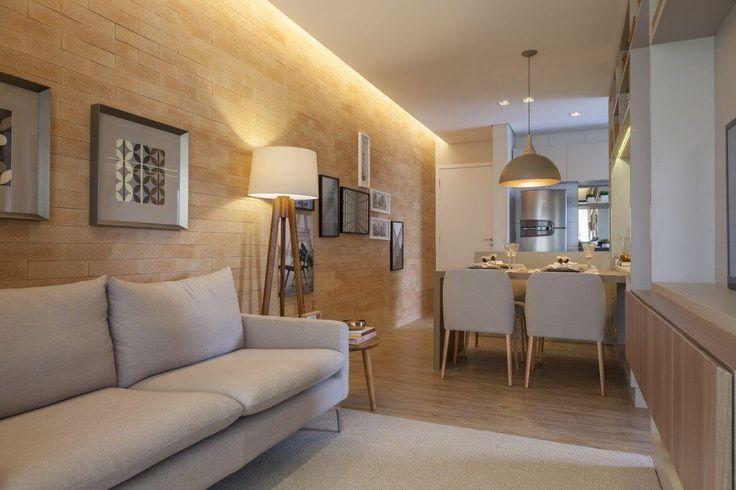 carpete de madeira sala apartamento pequeno tres arquitetura