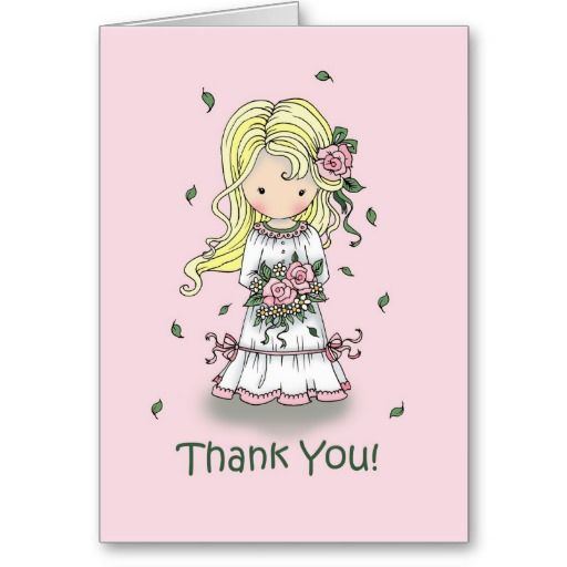 Thank You Flower Girl Card