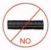 Do not use flexible corrugated perforated plastic drain pipe in a French drain