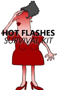 Cooling wipes are an easy way to extinguish the heat when you get a hot flash. See what else is in Dr Oz's Hot Flash Starter Kit!