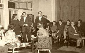 Ország Lili, Bálint Endre és Tóth Tibor a rákosligeti megnyitón, 1968.