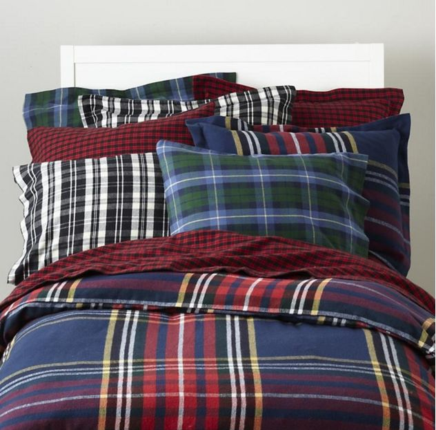 Plaid Bedding - check various designs and colors on Pretty Home