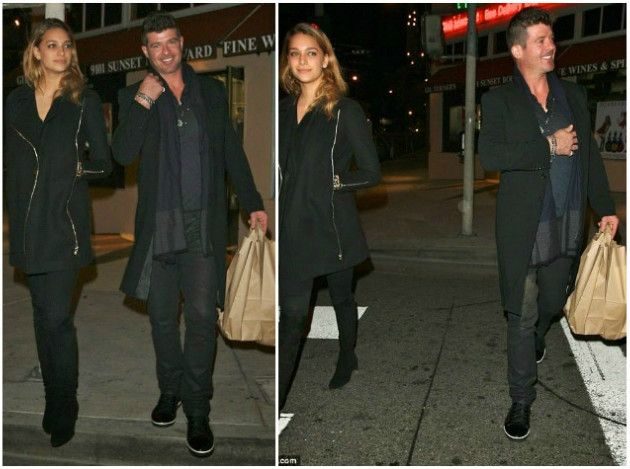 Robin Thicke dating the 'type' of woman he swore he'll never date...white girl