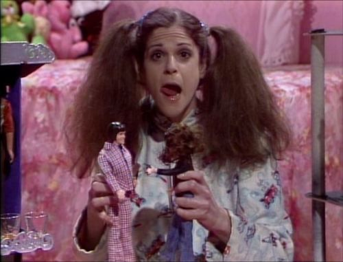 "Gilda Radner as Judy ""Judy what are you doing in there?!""  ""NOTHING!""...     lol I remember that LOVE IT!"