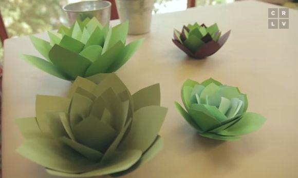 Paper Craft Idea: Make Your Own Paper Succulent