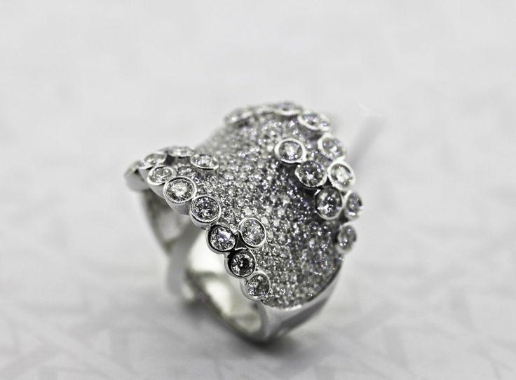Diamond Dress Ring by Kalfin Jewellery #kalfinjewellery #Kalfin #diamonddressring #diamonds #diamondjewellery #diamondrings #custommade #handmade #Melbourne #cbdjewellers #jewellers #rings #engagementrings #design #detail #style #fashionbloggers #fashionista #picoftheday #bestphoto #cool #like #love #lovely #bloggers #diamonds #dressring #rings #couture #luxury #giftidea #present