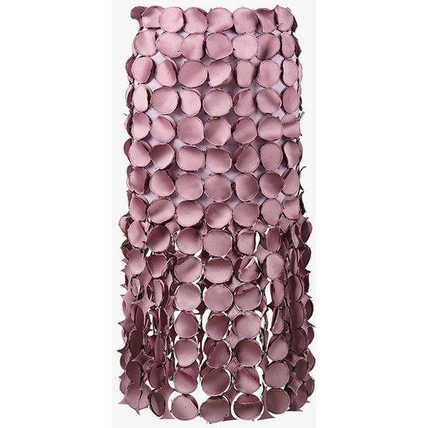Loewe Dot Cut Out Skirt ($2,690) ❤ liked on Polyvore featuring skirts, cut out skirt, loewe, dot skirt, purple skirt and polka dot skirts