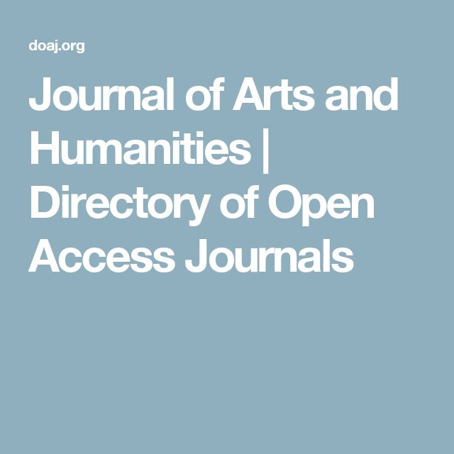 Journal of Arts and Humanities | Directory of Open Access Journals