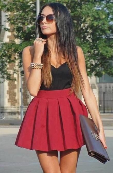 25  best ideas about Skater skirt outfits on Pinterest | Skater ...