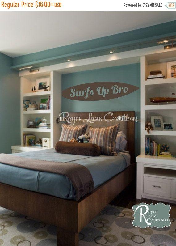 Surfboard Wall Art- Surfboard Decal- Surfer Art- Boys Room Decor- Surfer Decor…