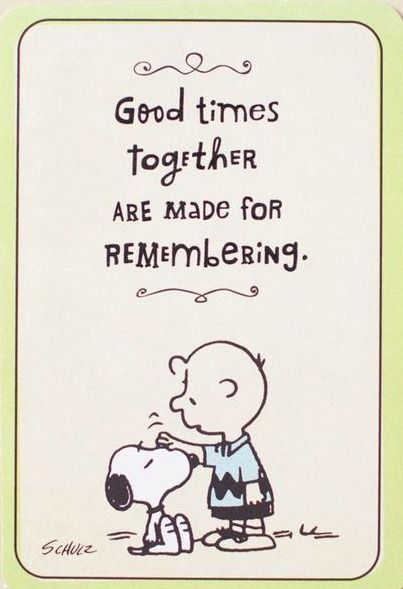 'Good atones together are made for Remembering, Charlie Brown and Snoopy❤️