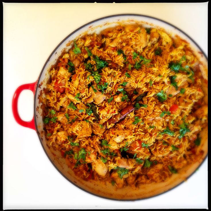 An insanely good aromatic chicken pilau with cinnamon, tomato and nutmeg (recipe - Rick Stein)