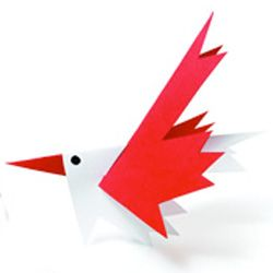 """Printables"" - Canada Day Bird Craft - Add some cute Canada Day Birds to your Décor.  This link includes a FREE printable template."