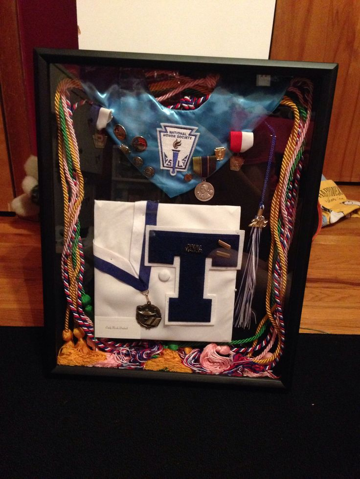 Graduation shadow box. High school graduation