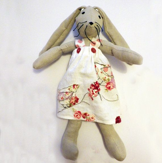 Rabbit / Bunny Soft Toy - Children's doll / Stuffed Animal / Easter Gift