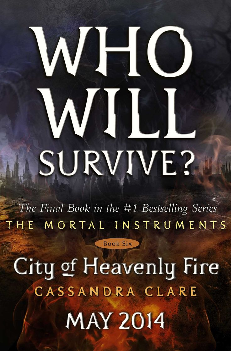 """The placeholder cover for City of Heavenly Fire. """"The final cover will of course not have words on it, but people."""" - Cassandra Clare"""