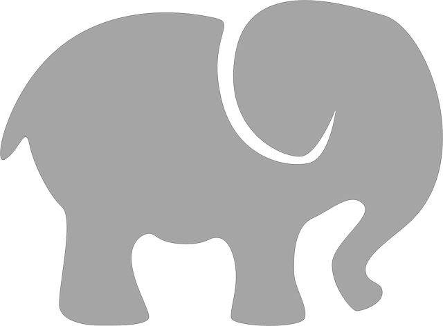 Elefante, Gris, Silueta, Animales, Signo, Bebé