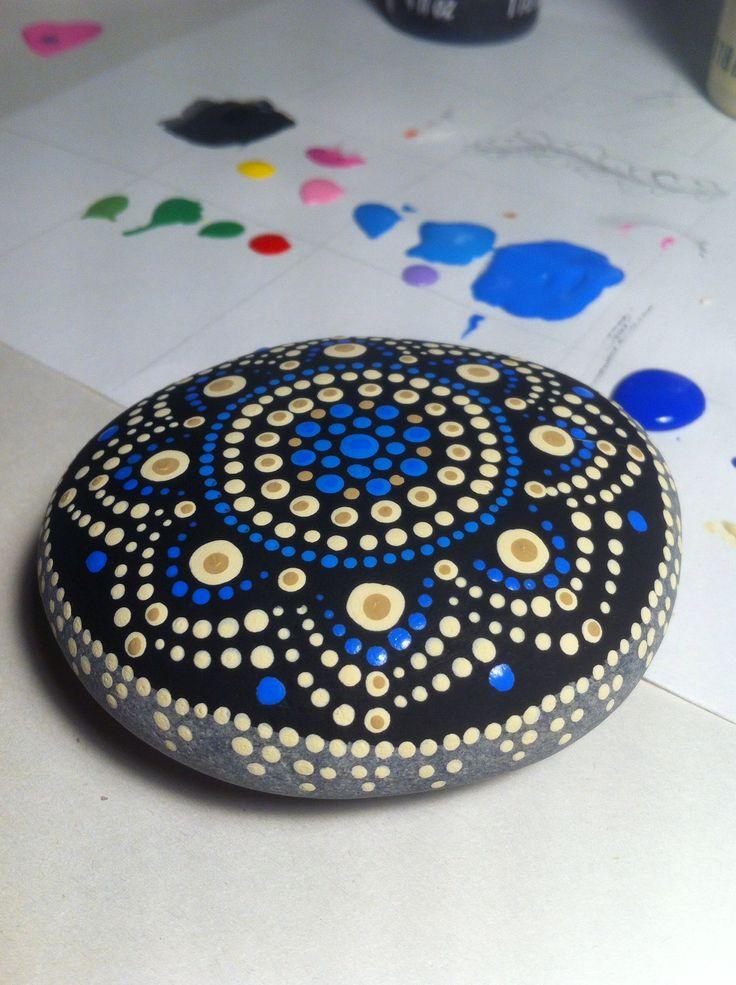 Jewel drop painted stone