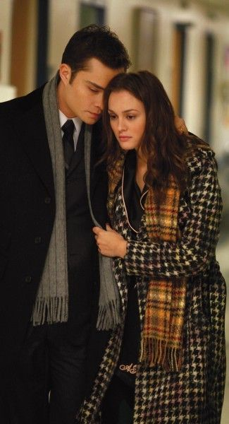 "Chuck Bass and Blair Waldorf at the hospital in the episode ""The Debarted""........"