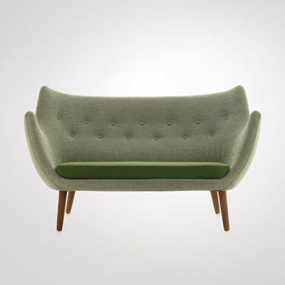 Finn Juhl : Sofa, 1941 Made by Niels Vodder. Wool and teak | [http://www.danish-furniture.com/designers/finn-juhl/#finn-juhl-sofa] | #FinnJuhlYear