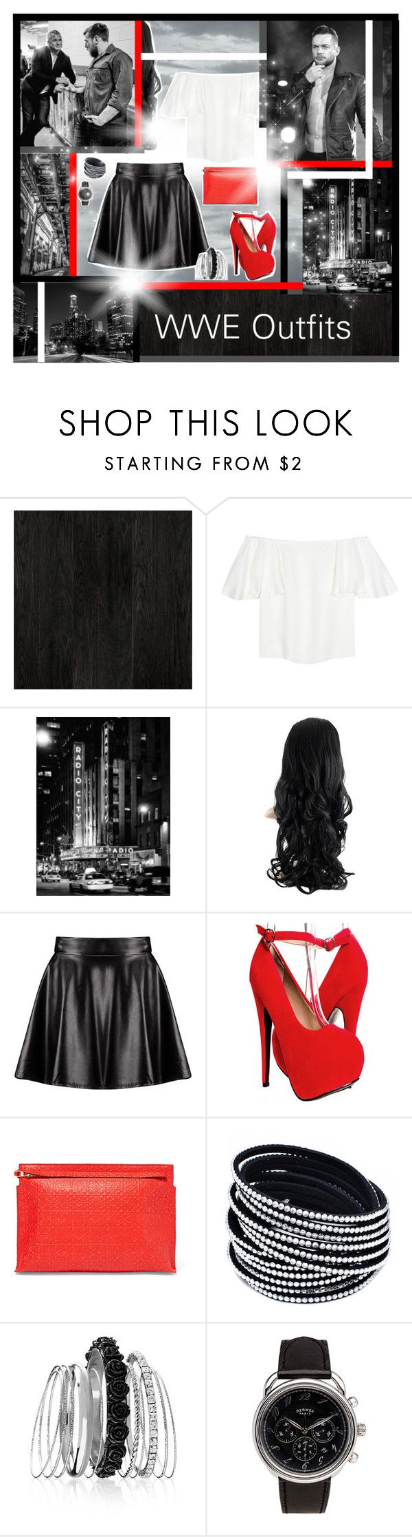 """""""WWE Outfits #88"""" by annacrystal ❤ liked on Polyvore featuring Valentino, WWE, Boohoo, Loewe, Avenue, Hermès, DanielBryan, finnbalor and shanemcmahon"""
