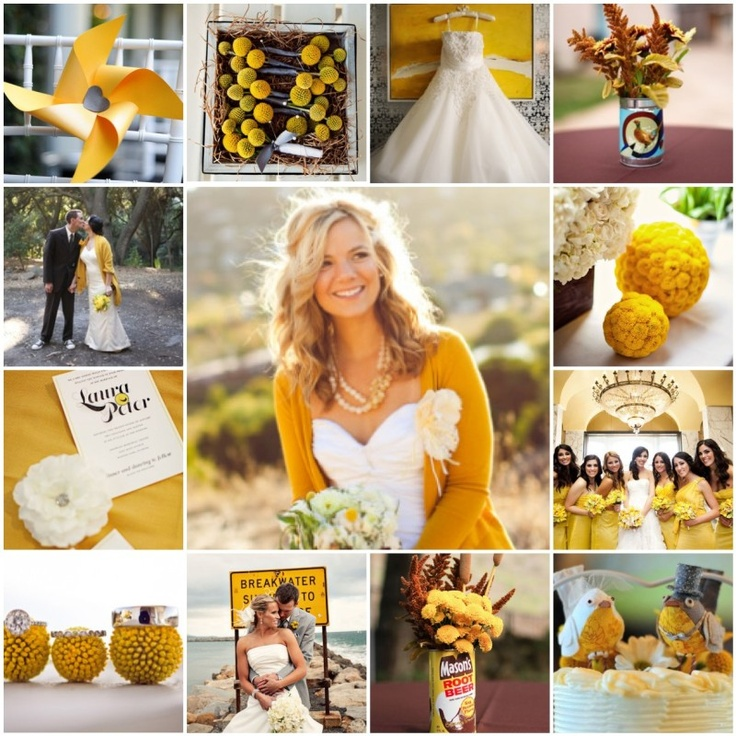 Mustard + Yellow Wedding: Cardigans, Ideas, Yellow Weddings, Yellow Cardigan, Future, Mustard Yellow Wedding, Color Theme, Bride, Mustardyellow
