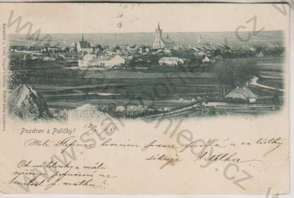 - Polička, celkový pohled, 1898