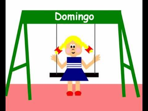 Spanish songs for kids: Spanish days of the week. Canción los dias de la semana. #Spanishkidssongs #TeachingSpanish https://www.youtube.com/watch/?v=v7mm8MC1MgY