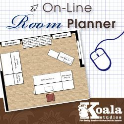 Sewing room layout ideas room planner create floor plan for Sewing room floor plans