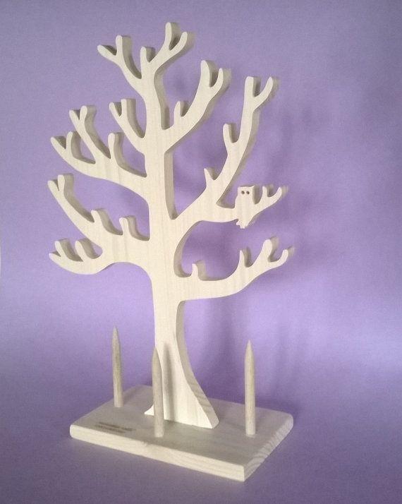 Portagioielli portagioie albero di MacchiavelliArtLegno su Etsy