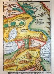 Old Georgian kingdoms Colchis en Iberia (wood cut print 1574)