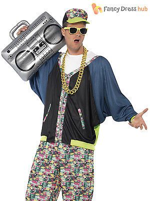 #Adult 80s hip hop costume #rapper mc fancy dress mens vanilla ice #hammer boom b, View more on the LINK: http://www.zeppy.io/product/gb/2/181694787158/