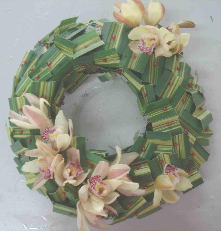 Orchid wreath centerpiece flower design pinterest