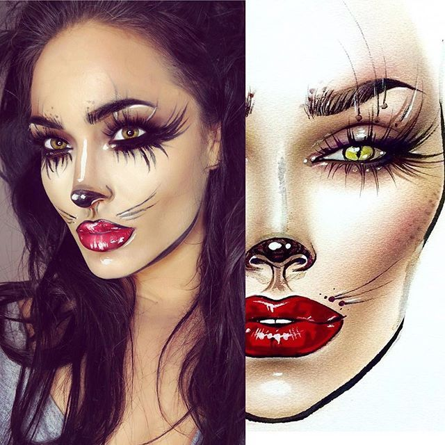 so much fun recreating milk1422 facecharts feeling halloween make uphalloween ideashalloween - Fun Makeup Ideas For Halloween