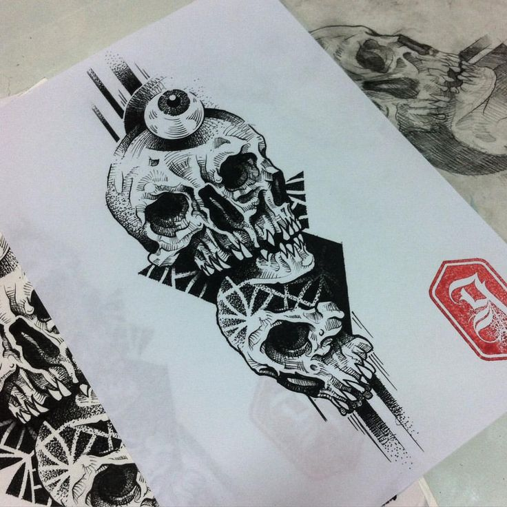 #goma90 #tattosketch #blackwork #blacktattoo #blacktattooart #tattoopins #tattsketches #blxckink #etchingstyle #skull #blackskulls