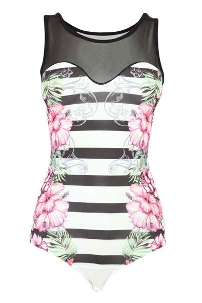 Print Floral Bodysuit : $16 : Wishlist : Pinterest : Vests, Floral and ...
