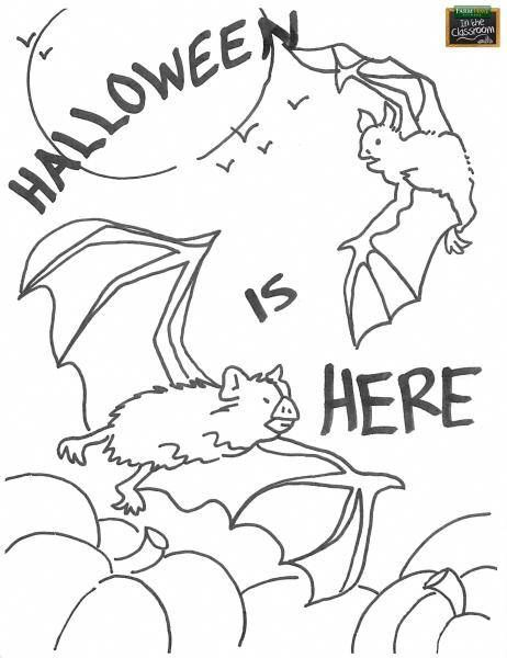 Superbe Free Printable   Halloween Coloring Page For Students.  Http://farmtimeclassroom.com